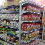 Giá kệ đôi siêu thị 2 mặt bày hàng