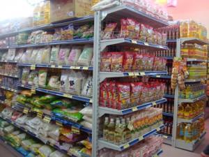 Giá kệ siêu thị - Giá kệ đôi siêu thị 2 mặt bày hàng