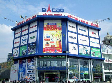 Hệ Thống Siêu Thị Điện Máy Bắc Đô Bacdo Plaza: Ngã 6 P. Kim tân. TP. Lào Cai. ĐT: 0203.856666