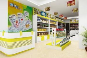 Giá kệ siêu thị - Thiết kế tủ kệ siêu thị