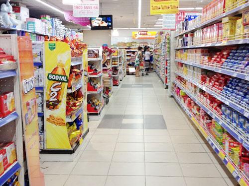 thiết kế gian hàng siêu thị
