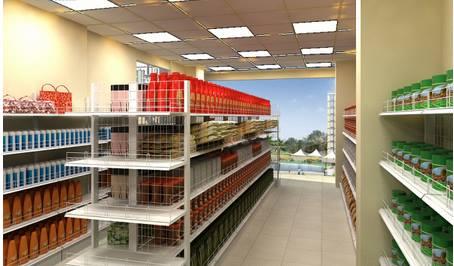 thiết kế tủ kệ siêu thị mini