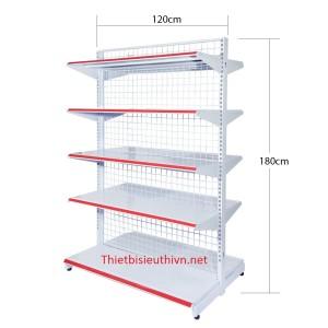 Giá kệ siêu thị - Kệ siêu thị đôi 1200x1800mm